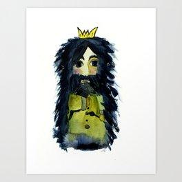 Raven King Art Print