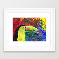 toucan Framed Art Prints featuring Toucan by Catherine Johnson