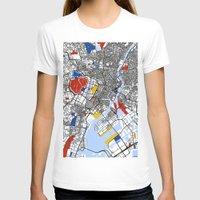 mondrian T-shirts featuring Tokyo Mondrian by Mondrian Maps