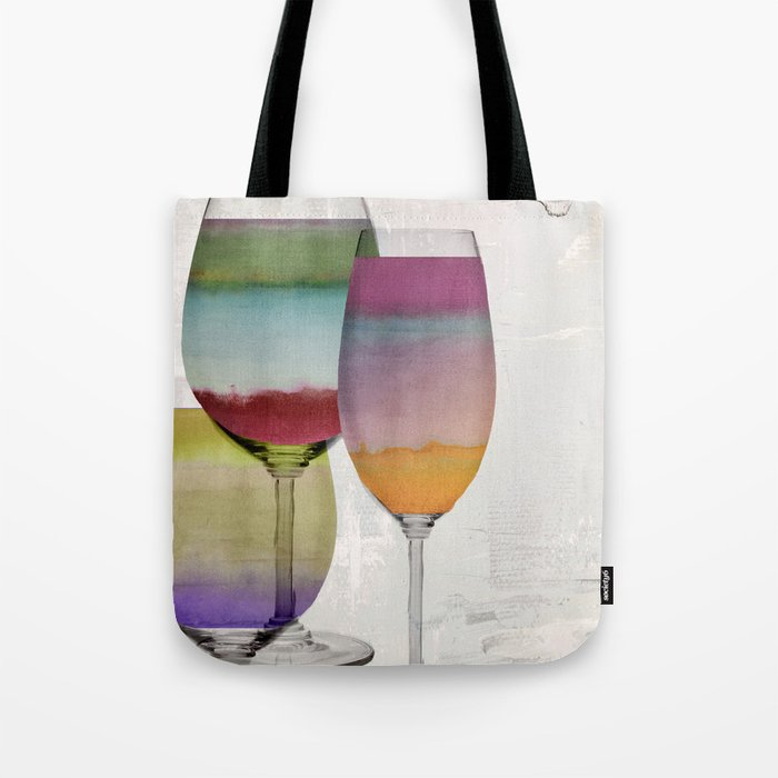 Prism Wine Tote Bag