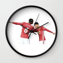 Pogba Lingard - Manchester United - Dab Wall Clock