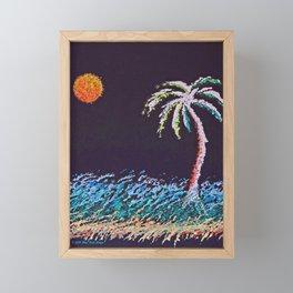 """Ghost Palms of Kauai #8"" Painting Framed Mini Art Print"