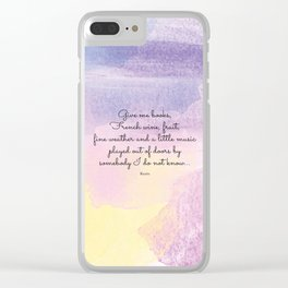 Give me books, French wine - Keats Clear iPhone Case