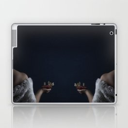 Woman with pomegranate and butterflies Laptop & iPad Skin