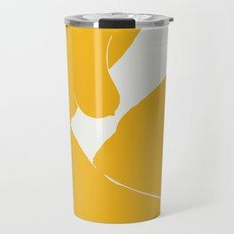 Virgo nude in yellow Travel Mug