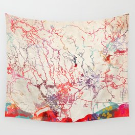 Ponce map Puerto Rico painting Wall Tapestry