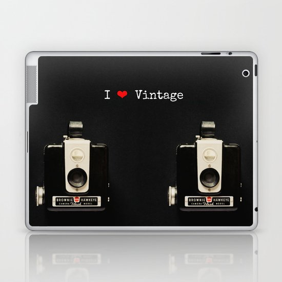 I ♥ Vintage Laptop & iPad Skin