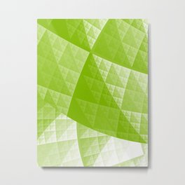 Greenery abstract pattern Metal Print