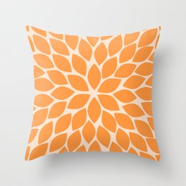 Sherbet Chrysanthemum Throw Pillow