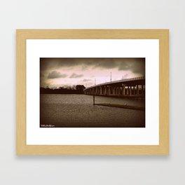 Booker T. Washington Bridge in Hampton Framed Art Print