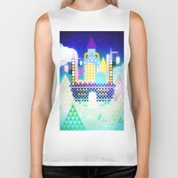 castle in the sky Biker Tanks featuring Castle in the Sky by Alexander Pohl