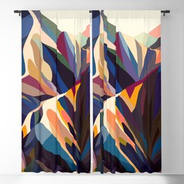 Mountains original Blackout Curtain