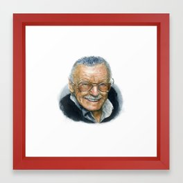 Stan Lee Portrait Framed Art Print