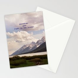 paradise, pow. Stationery Cards