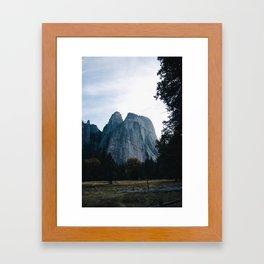Cathedral Rocks - Yosemite National Park Framed Art Print