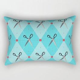 Sewing Argyle Rectangular Pillow