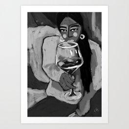 cheers black and white Art Print