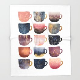 Pretty Coffee Cups 2 Throw Blanket