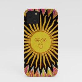 Psychedelic Sun Star Hippie Bohemian Festival Spiritual Zen Yoga Mantra Meditation iPhone Case