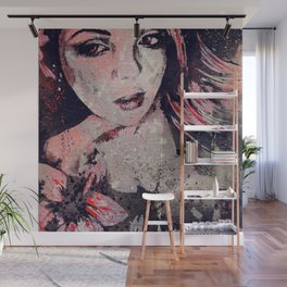 Ruined Our Everything: Red (graffiti flower lady portrait) Wall Mural