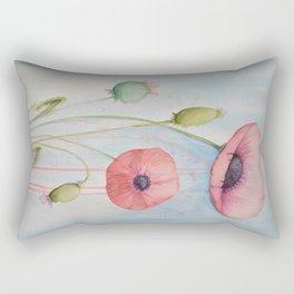 Sheila's Poppies Rectangular Pillow