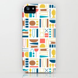 Egyptian pictograms pattern design_01 iPhone Case