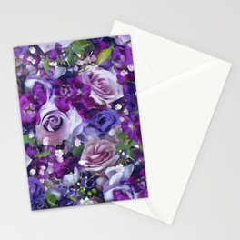 Romantic flowers III Stationery Cards