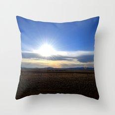 Wyoming Sunset 1 Throw Pillow