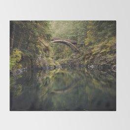 Moulton Falls Bridge Throw Blanket