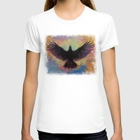 crow T-shirts featuring Crow by Michael Creese