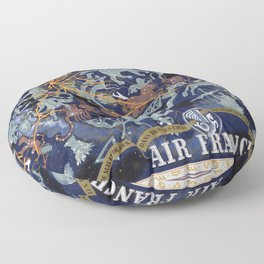 1939 Air France Celestial Poster Floor Pillow