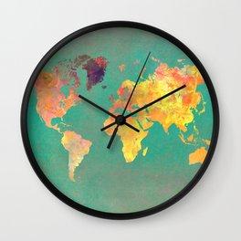 world map 103 #worldmap #map Wall Clock