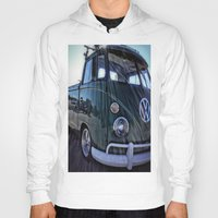 vw Hoodies featuring vintage vw by Joedunnz