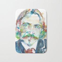 ROBERT LOUIS STEVENSON - watercolor portrait Bath Mat