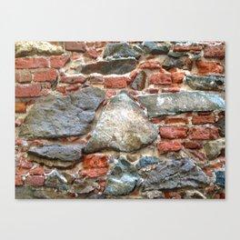 Stone, Brick, Coral, Wall, Historic St. Thomas, USVI Canvas Print