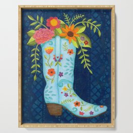 Cowgirl Boot Serving Tray