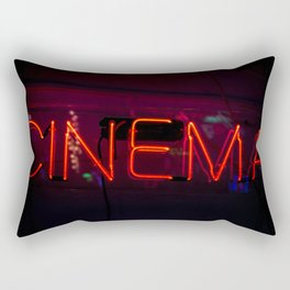Neon Cinema Sign Rectangular Pillow