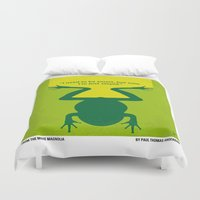 cunt Duvet Covers featuring No159 My MAGNOLIA minimal movie poster by Chungkong