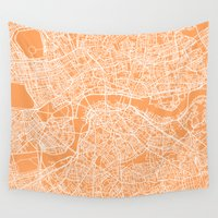 london map Wall Tapestries featuring London Map by chiams