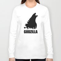 godzilla Long Sleeve T-shirts featuring Godzilla by Nick Kemp