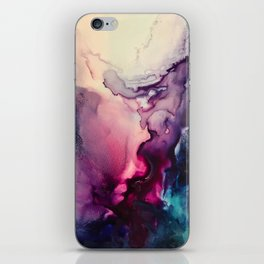 Mission Fusion - Mixed Media Painting iPhone Skin