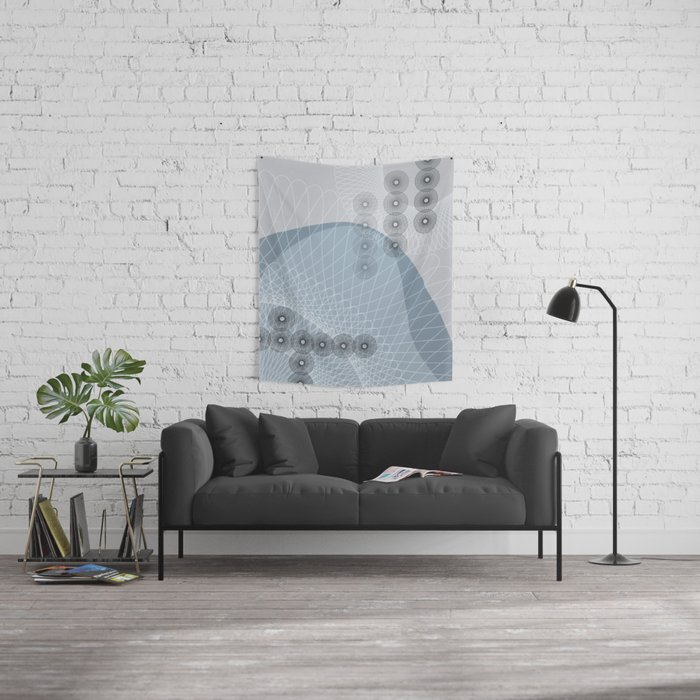 The Blue Wave Wall Tapestry