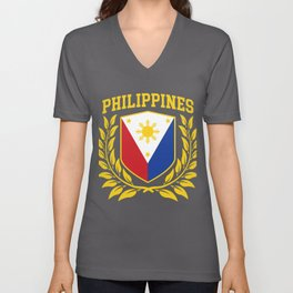 Philippines Coat of Arms Unisex V-Neck