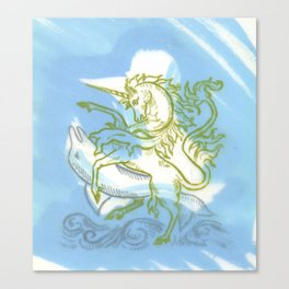 Unicorn Fucking a Dolphin Canvas Print