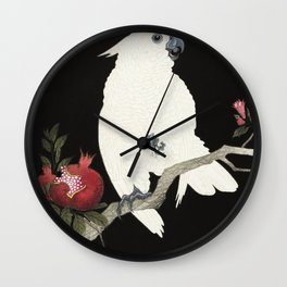 Cockatoo and pomegranate (1925 - 1936) by Ohara Koson (1877-1945) Wall Clock