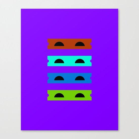 Teenage Minimal Ninja Turtles Canvas Print