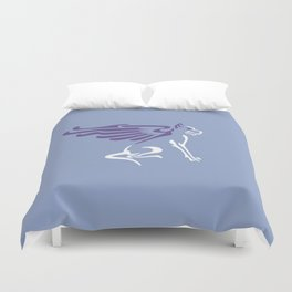 Myths & Monsters: Winged dog Duvet Cover
