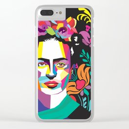 Frida Flores Clear iPhone Case