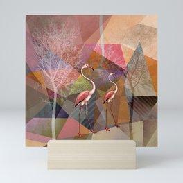FLAMINGOS P23-B Mini Art Print