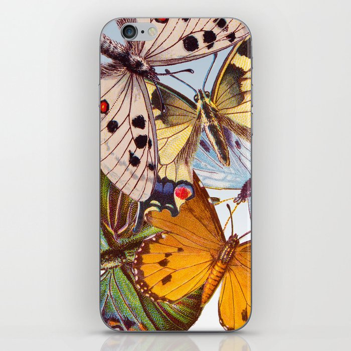 Vintage Butterfly Collage iPhone Skin